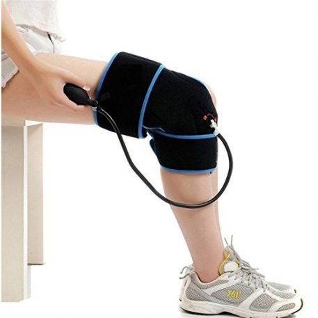 Cold Therapy Knee Wrap With Compression and Extra Ice Gel Pack - Essential Kit For Knee Pain and Post Knee Surgery Recovery - Main