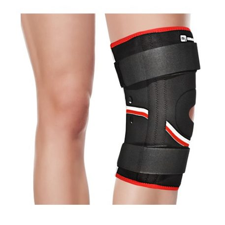SimplyJnJ Open Patella Knee Sleeve w Flexible Side Stabilizer Stays and Resistance Bands and eBook for Knee Pain - TBKB