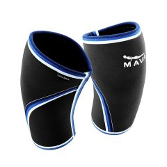 Pair of Knee Compression Sleeves Neoprene 7mm for Men & Women for Cross Training WOD, Squats, Gym Workout, Powerlifting, Weightlifting by MAVA SPORTS