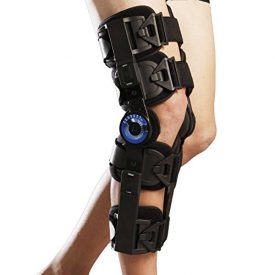 Orthomen Post Op Knee Brace, Hinged ROM Knee Brace for Recovery Stabilization, Adjustable Medical Orthopedic Support Stabilizer, Universal Standard