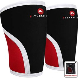 Fitnessery Knee Sleeves for Crossfit, Powerlifting, Weightlifting and Knee Support - 7mm x 2